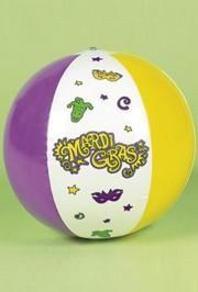 14in Vinyl Inflatable Mardi Gras Beach Balls