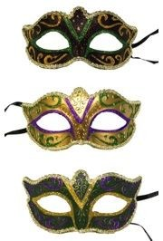 Paper Mache Masks: Mardi Gras Eye Masks