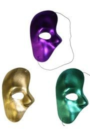 Half Masks: Mardi Gras Phantom of the Opera