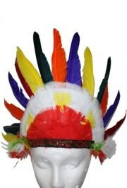 23in Wide x 12in Tall Deluxe Feathered Indian Headdress