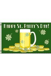 3ft x 5ft Happy St. Patricks Day Polyester Irish/ Flag
