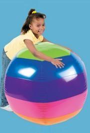 48in Diameter Vinyl Inflatable Giant Rainbow Beach Ball