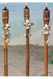 32in Bamboo And Seashell Polynesian Torches