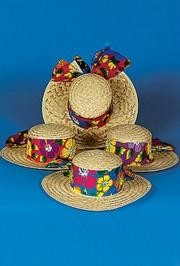 14in Straw Tropical Ladies Hats