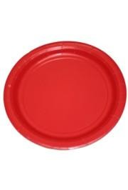 9in Red Heavy Duty Plastic Plates