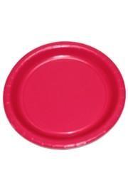 9in Hot Magenta Heavy Duty Plastic Plates