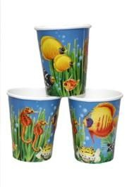 9oz 4 1/2in Ocean Friends Paper Cups