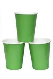 9oz Citrus Green Paper Cups