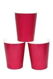9oz Hot Magenta Paper Cups