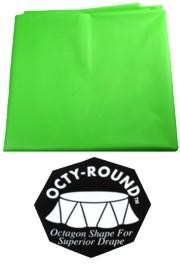 82in Round Citrus Green Plastic Tablecovers