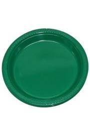 7in Green Heavy Duty Plastic Plates