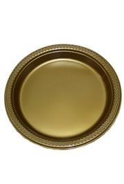 7in Gold Heavy Duty Plastic Plates