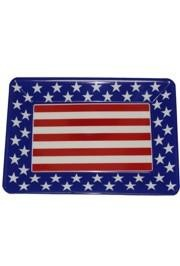 10in x 14in Patriotic Stars And Stripes Plastic Serving Tray