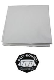 82in White Round Heavy Duty Plastic Tablecovers