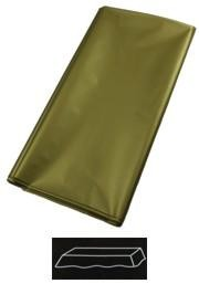 54in  x 108in Gold Plastic Tablecovers
