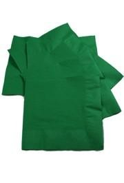 5in x 5in Green Beverage Napkins