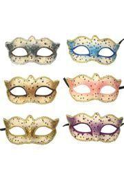 Paper Mache Masks: Assorted Spotted Venetian Masks
