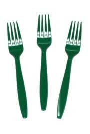 7in Green Premium Heavyweight Plastic Forks