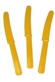 7 1/2in Yellow Premium Heavyweight Plastic Knife