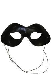 Eye Masks: Metallic Black Lamei