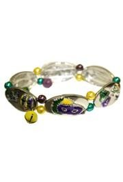 5/8in Wide Mardi Gras Metal Bracelet