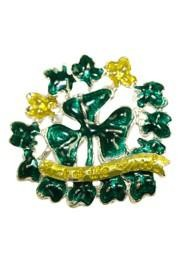1 1/2in Tall x 1 3/4in Wide Saint Patricks Day Brooch/Pin