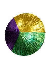 Purple Green Gold Foil Umbrella