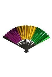 12in Metallic Purple Green Gold Foil Fans