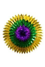 36in 3-Tier Purple Green Gold Wall Star/ Burst Fan/Hanging Decoration