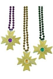 Gold Cross Medallion Beads