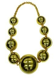 Big Balls Necklace: Metallic Gold