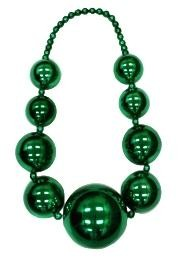 Big Balls Necklace: Metallic Green