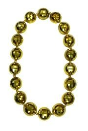 Gold Disco Ball Big Beads