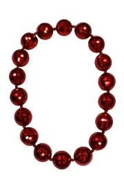 48in 60mm Red Disco Ball Shape Beads