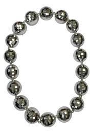 Silver Disco Ball Big Beads