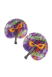 10in x 9in Mardi Gras Folding Fans