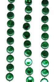 38in Metallic Green Hockey Puck Beads