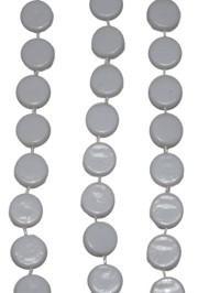 38in White Hockey Puck Beads