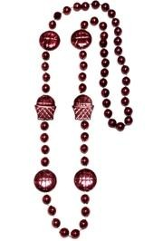 36in Metallic  Burgundy Basketball Net/ Basketball Beads