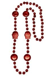 36in Metallic Red Basketball Net/ Basketball Beads