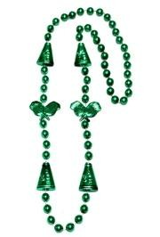 36in Metallic Green Cheerleader Beads