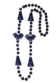 36in Metallic Navy Blue Cheerleader Beads