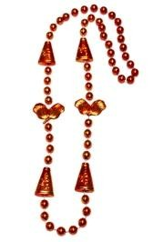36in Metallic Orange Cheerleader Beads