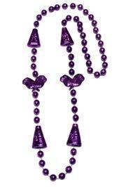 36in Metallic Purple Cheerleader Beads