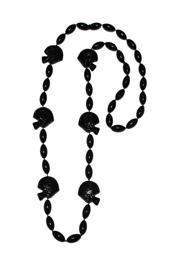 36in Black Clear Coat Football Helmet Beads