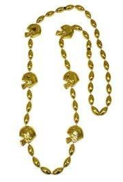 36in Metallic Gold Football Helmet Beads