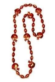 36in Metallic Orange Helmet / Football Beads