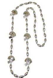 36in Metallic Silver Helmet / Football Beads