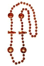 36in Metallic Orange Soccer Beads