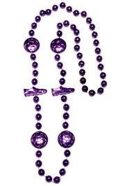 36in Metallic Purple Soccer Beads